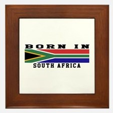 Born In South Africa Framed Tile