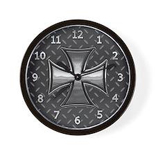 Gridiron Maltese III Wall Clock