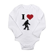 I LOVE SASQUATCH BIGFOOT T SHIRT Body Suit