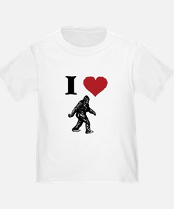 I LOVE SASQUATCH BIGFOOT T SHIRT T-Shirt