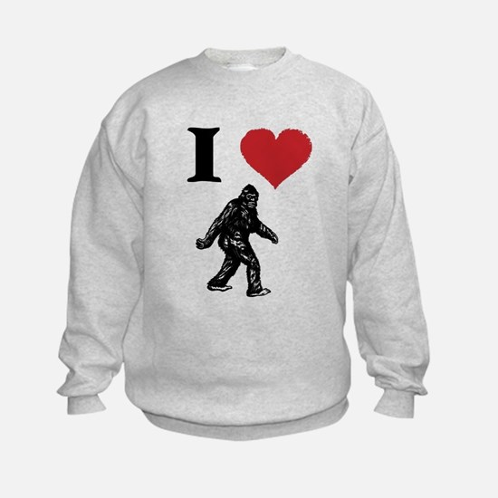I LOVE SASQUATCH BIGFOOT T SHIRT Sweatshirt
