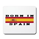 Born in spain Mouse Pads