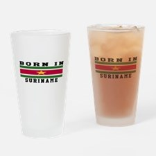 Born In Suriname Drinking Glass