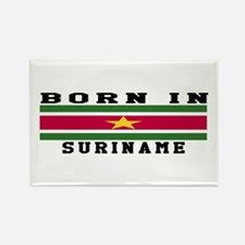 Born In Suriname Rectangle Magnet