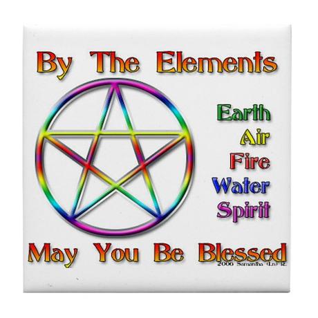 Elemental Blessing Tile Coaster