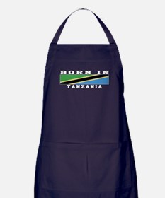 Born In Tanzania Apron (dark)