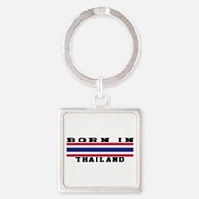 Born In Thailand Square Keychain
