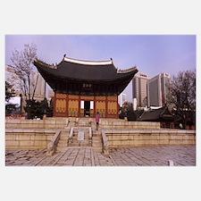 Facade of a palace, Deoksugung Palace, Seoul, Sout