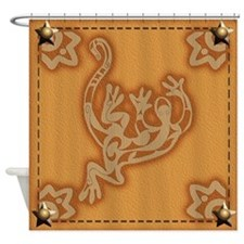 Leather Lizard Shower Curtain