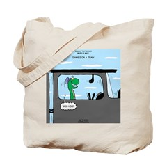 Snakes on a Train Tote Bag