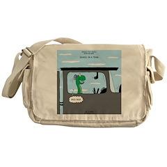 Snakes on a Train Messenger Bag
