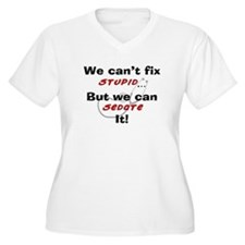 We can fix stupid for LIGHTS Plus Size T-Shirt
