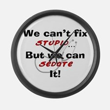 We can fix stupid for LIGHTS Large Wall Clock