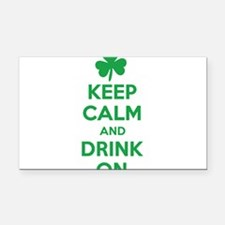 Keep Calm and Drink On. Rectangle Car Magnet
