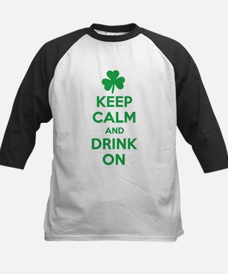Keep Calm and Drink On. Kids Baseball Jersey