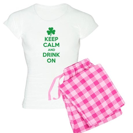 Keep Calm and Drink On. Women's Light Pajamas