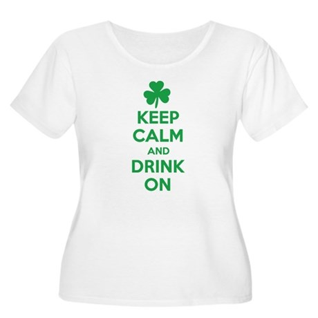 Keep Calm and Drink On. Women's Plus Size Scoop Ne
