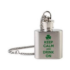 Keep Calm and Drink On. Flask Necklace