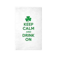 Keep Calm and Drink On. 3'x5' Area Rug