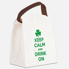 Keep Calm and Drink On. Canvas Lunch Bag