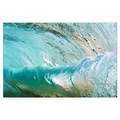 Hawaii, Underwater View Of Wave Poster