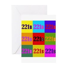 Colorful 221B Greeting Card