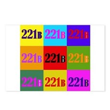 Colorful 221B Postcards (Package of 8)