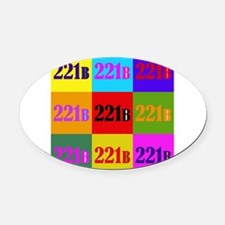 Colorful 221B Oval Car Magnet