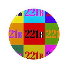 "Colorful 221B 3.5"" Button"