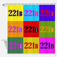Colorful 221B Shower Curtain