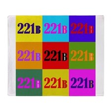Colorful 221B Throw Blanket