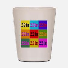 Colorful 221B Shot Glass