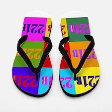 Colorful 221B Flip Flops