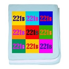 Colorful 221B baby blanket