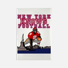 NY KNOWS FOOTBALL Rectangle Magnet