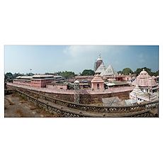 Jagannath Temple, Swargadwar Road, Puri, Orissa, I Poster