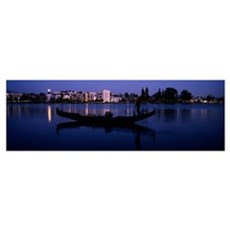 Lake Merritt, Oakland, Alameda County, California Canvas Art