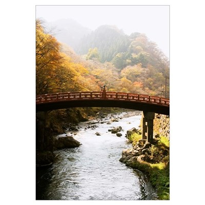 Japan, Nikko, World Heritage Site, Shinkyo (Sacred Framed Print