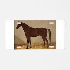 Brown Arabian Horse Aluminum License Plate