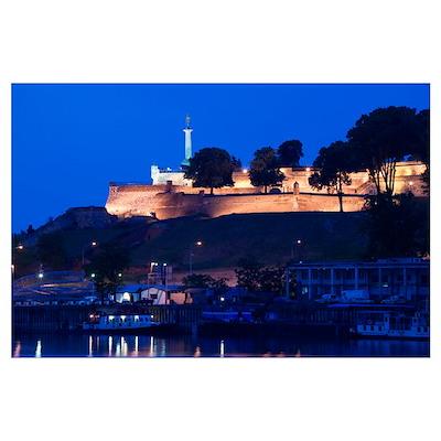Danube River, Victory Monument, Kalemegdan Citadel Poster