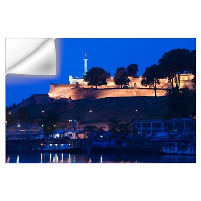 Danube River, Victory Monument, Kalemegdan Citadel Wall Decal