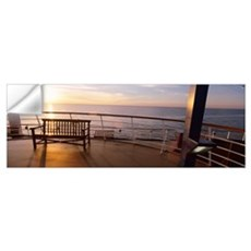 Deck railing of Carnival Cruise ship in the Atlant Wall Decal