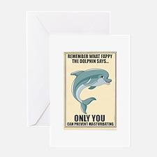 Fappy the Anti-Masturbation Dolphin Greeting Card