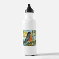 Red Robin Bird Water Bottle