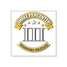 "Three Percenter Square Sticker 3"" x 3"""
