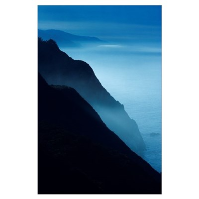California, Big Sur Coast, Silhouetted Cliffs Alon Poster