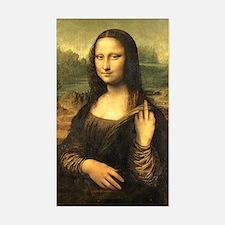 Mona Lisa Flip Off Decal