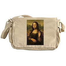 Mona Lisa Flip Off Messenger Bag