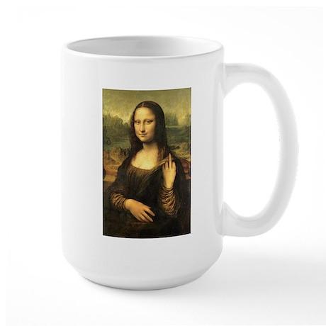 Mona Lisa Flip Off Mug