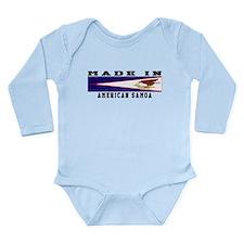 American Samoa Made In Long Sleeve Infant Bodysuit